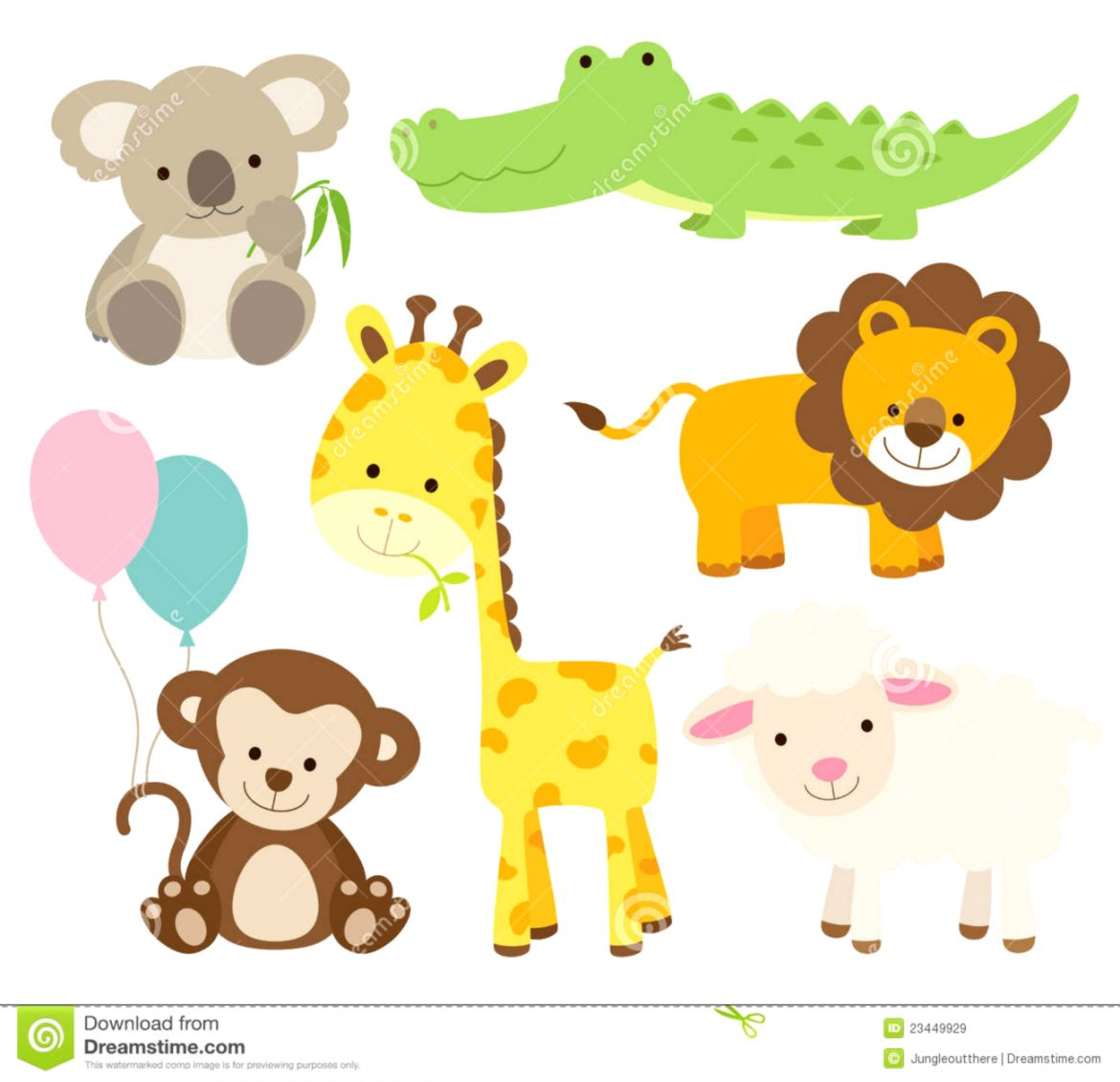 Baby animal clipart.