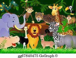 Jungle animals clip.
