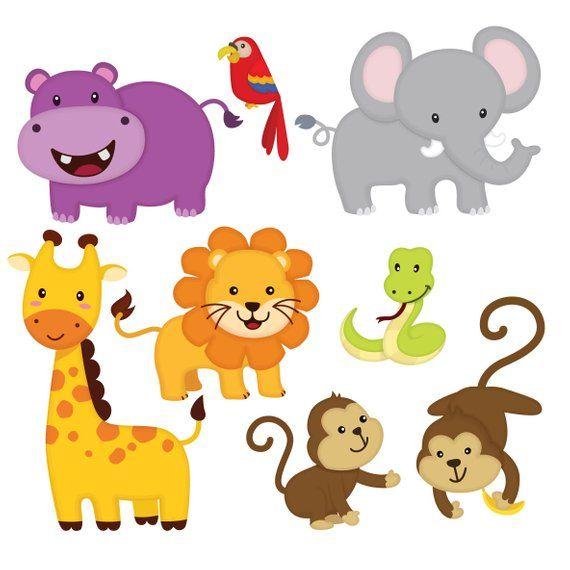 Jungle animal clip.