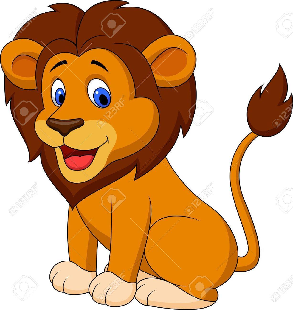 Lion goofy clipart.