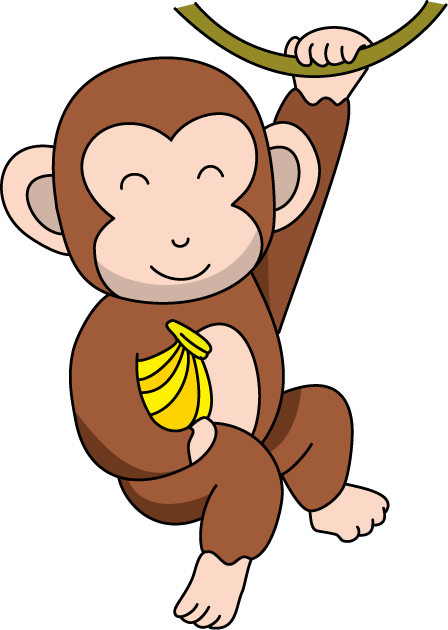 cartoon monkey clipart happy