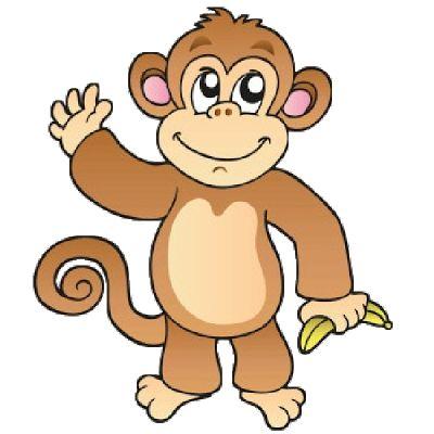 cartoon monkey clipart baboon