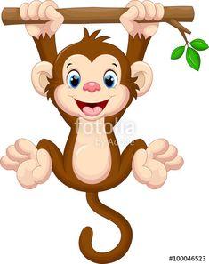 monkey clipart cute cartoon