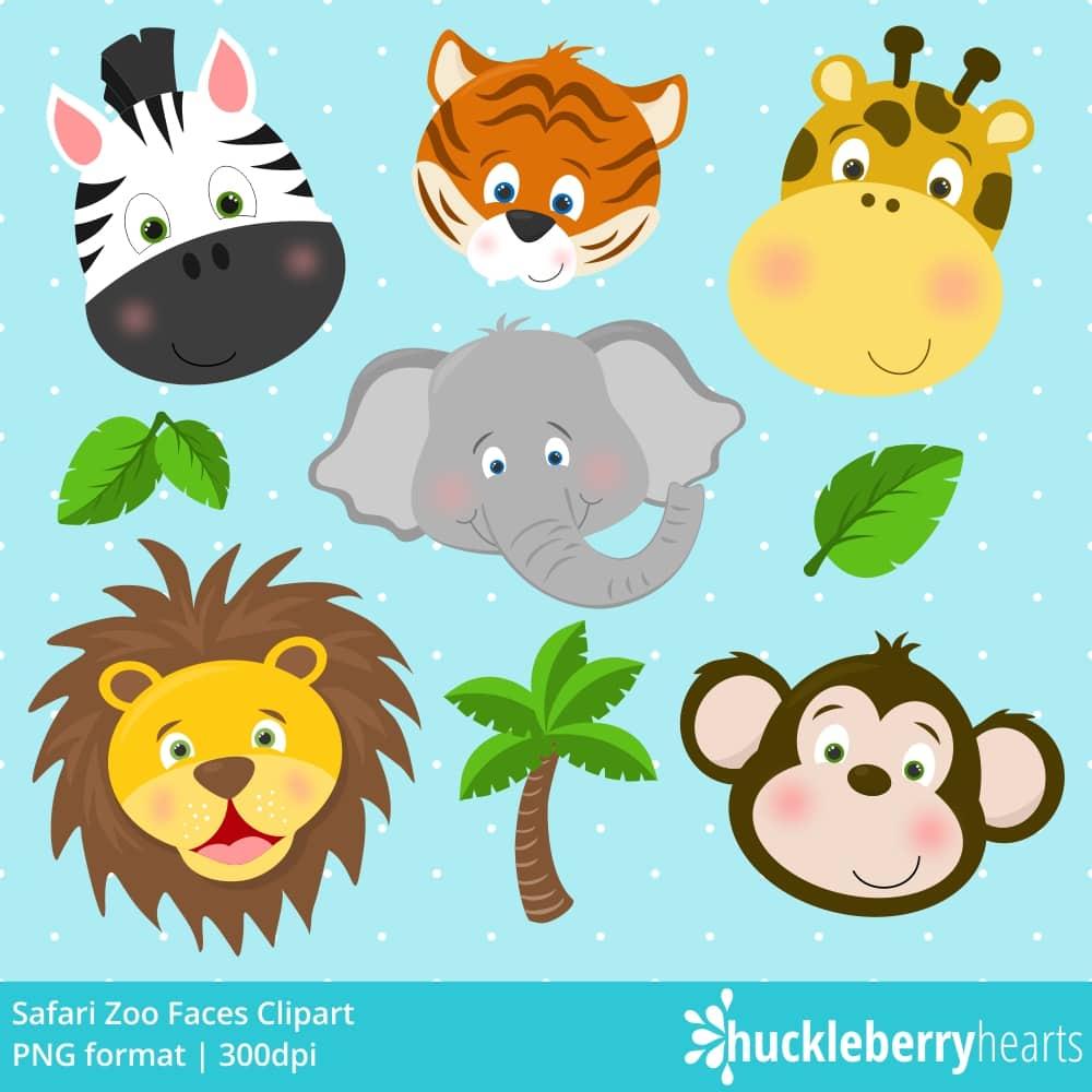 Safari zoo faces.