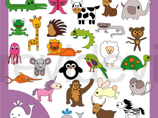 Simple alphabet animals.