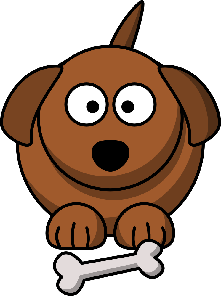 Cute cartoon dog.
