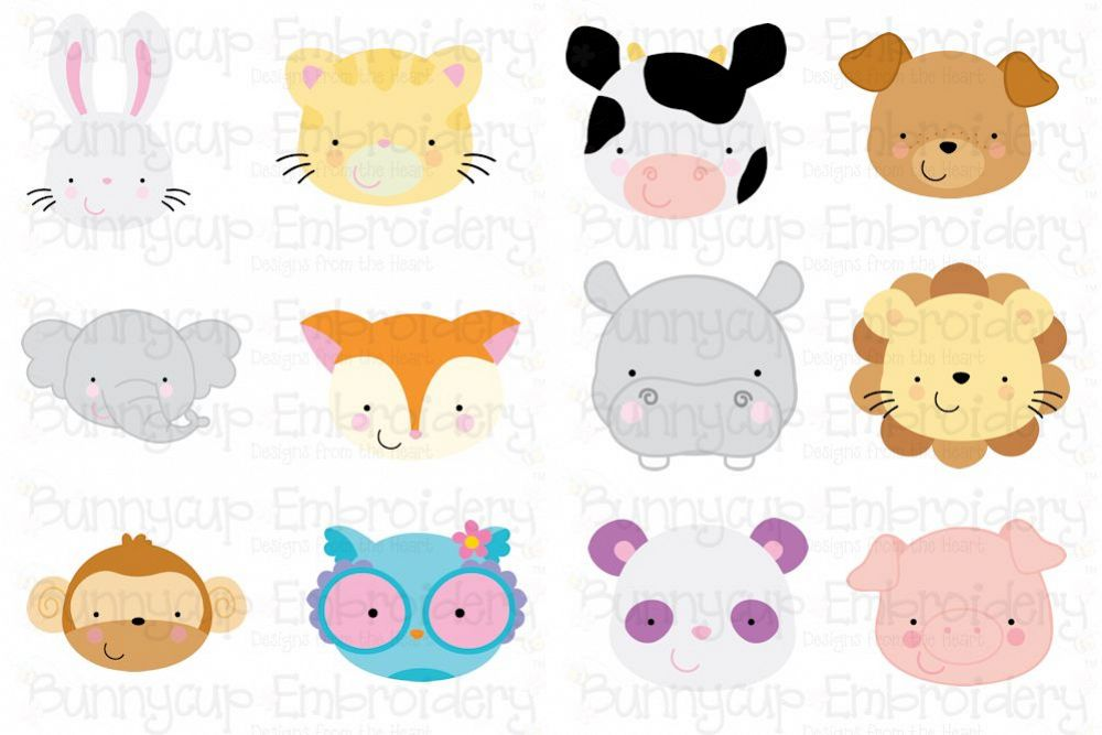 Animal faces bundle.