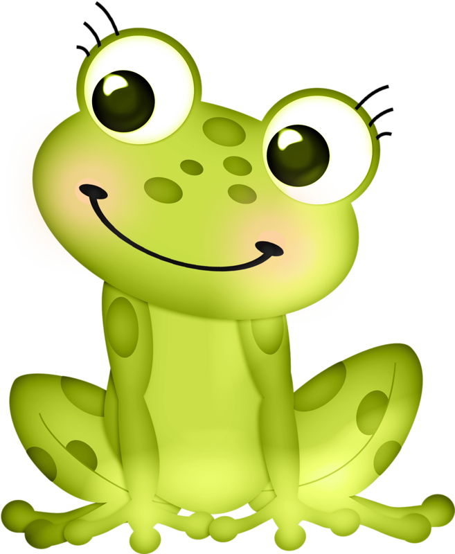 Shapes clipart frog.