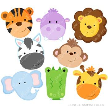 Jungle animal faces.