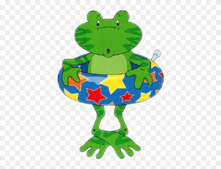 Funny frog cartoon.