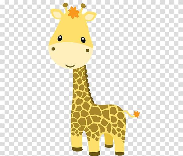 Brown giraffe illustration.