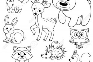 Forest clipart black and white animal. Animals portal