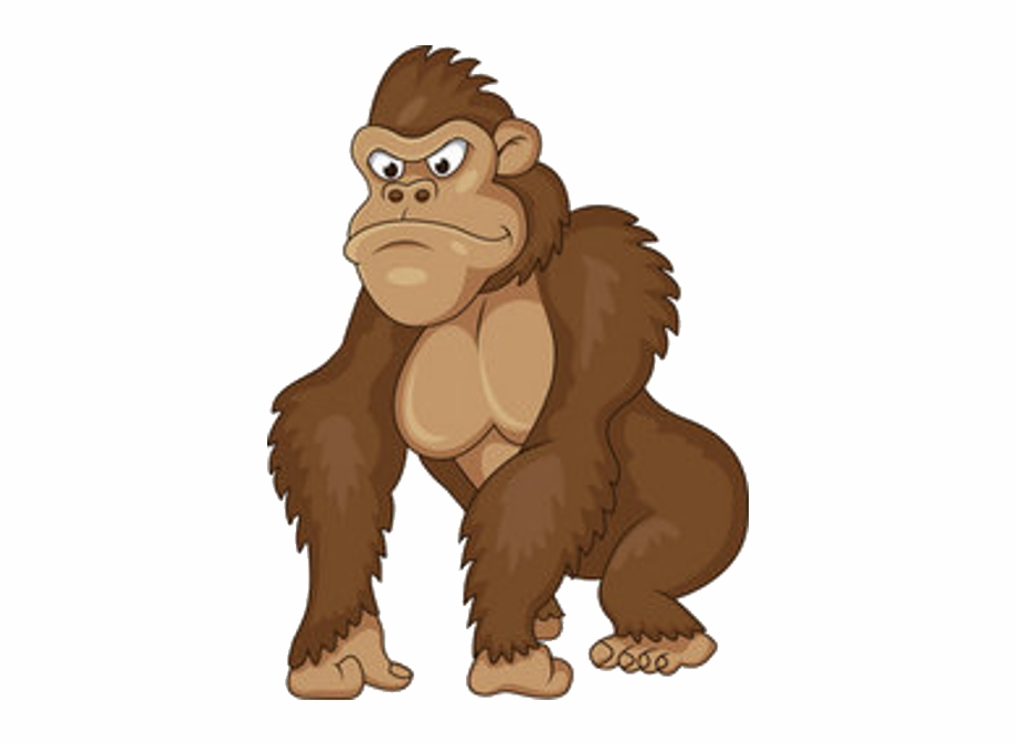 ape clipart angry