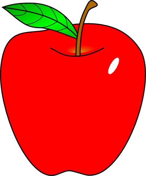 Cartoon apple red.