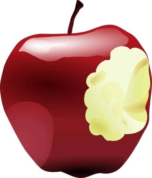 Apple Bitten clip art Free vector in Open office drawing svg