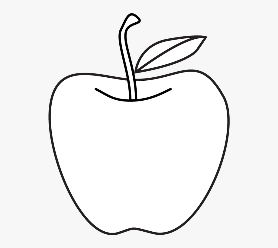 Apples clipart black.