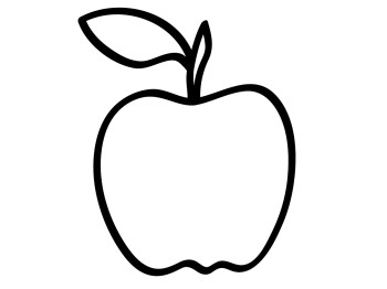 Apple clipart black.
