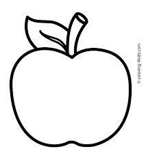 Apple clipart black.