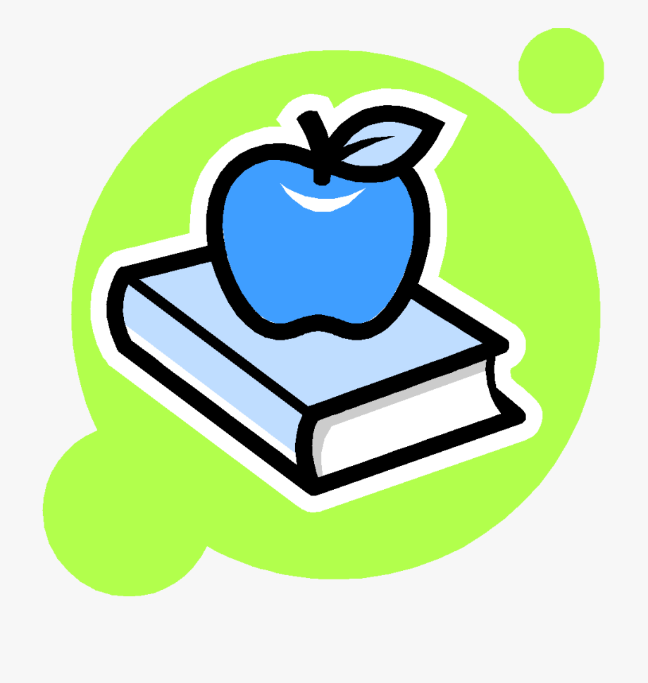Book and apple.
