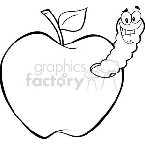 4937clipartillustrationofhappyworminapple clipart royaltyfree.