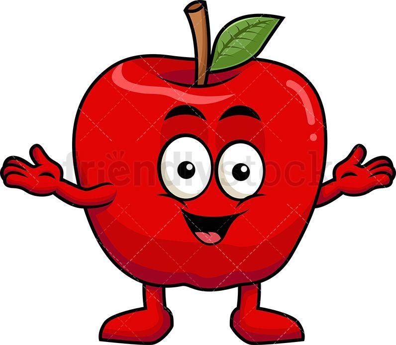 Happy Apple Mascot