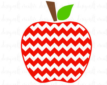 Chevron apple clipart
