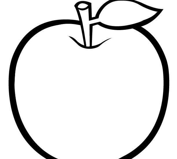 Colouring picture of apple