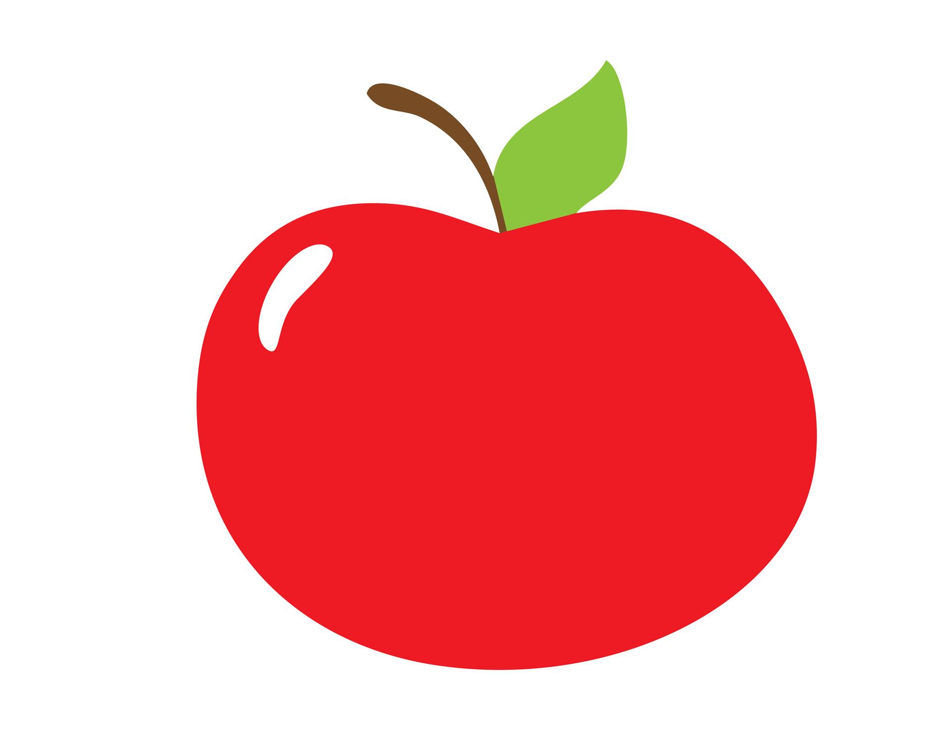 Cute apple clip art free clipart images