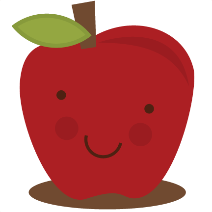 Cute apple clipart.