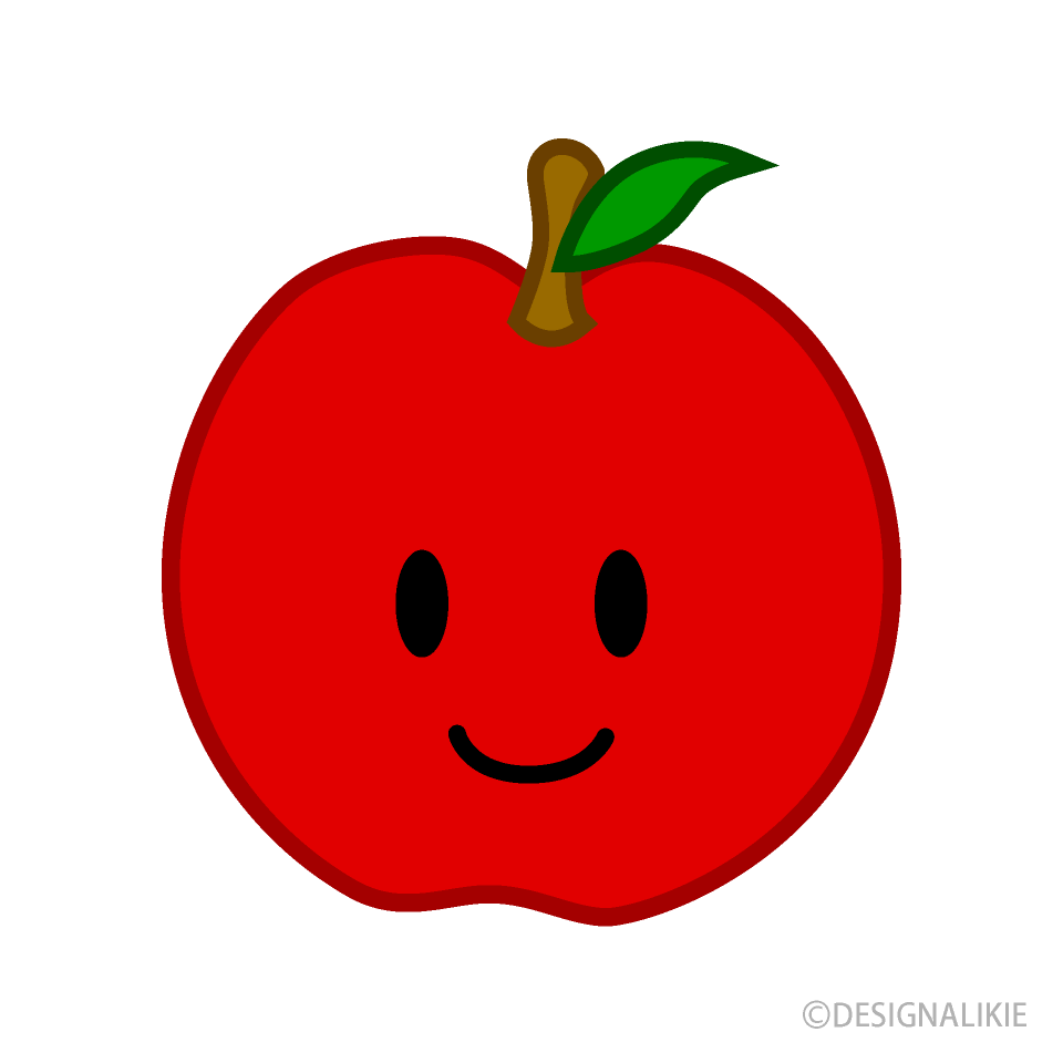 Free Cute Apple Clipart Image