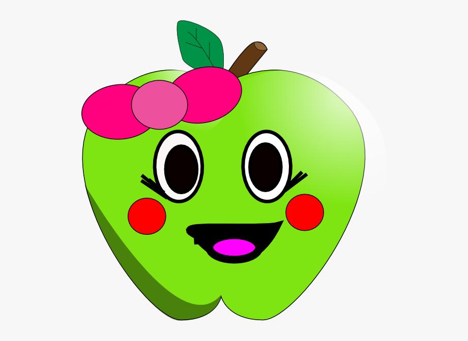 Happy apple clip.