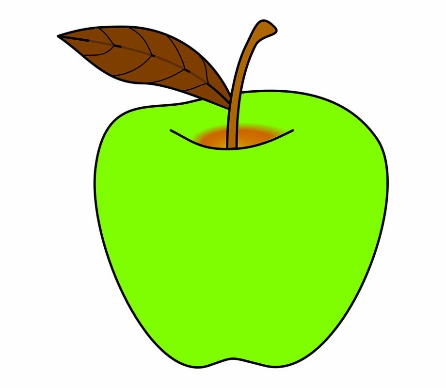 Green apple clipart.