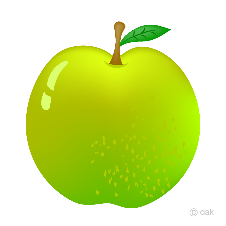 Fresh Green Apple Clipart Free Picture