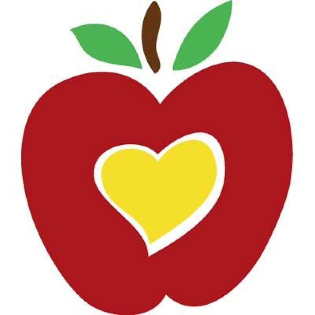 Apple clipart heart.