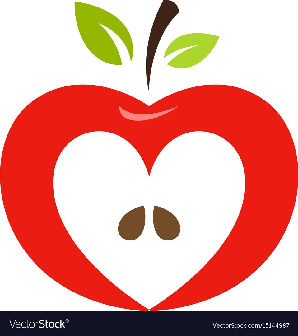 Heart apple clipart.