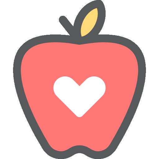 Apple heart clipart.