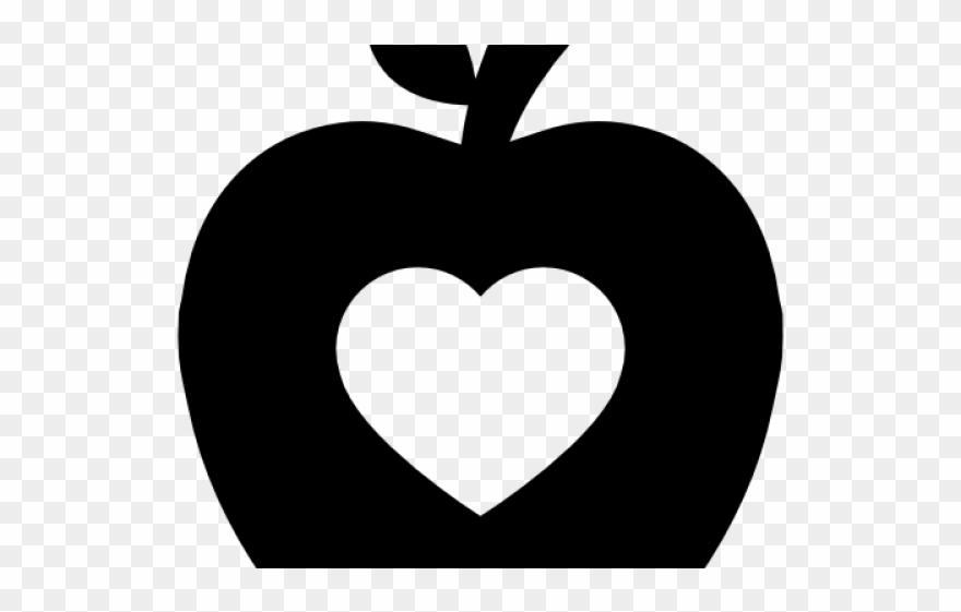 Heart clipart apple.