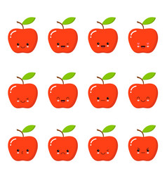 Cute Apple Clipart Vector Images