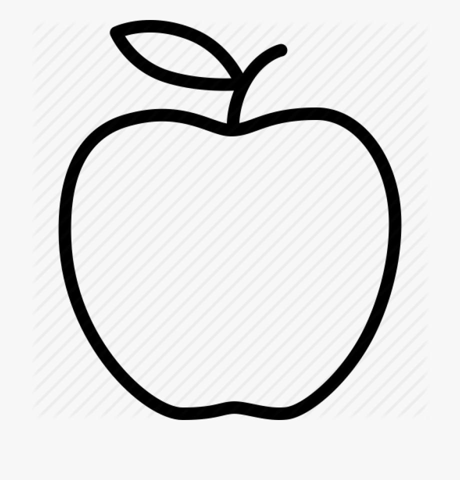 Apple Clip Art Outline Apple Outline Vector Huge Freebie