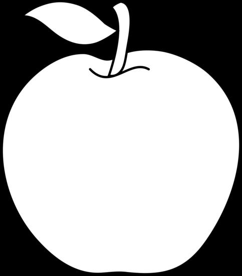 Black and White Apple Outline