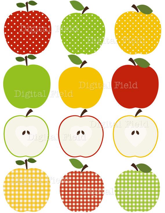INSTANT DOWNLOAD Apple Clip Art Set
