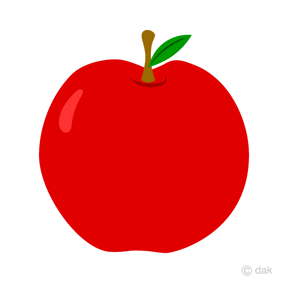 Free Simple Red Apple Clipart Image
