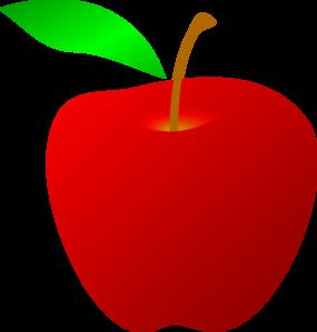 Red apple clip art vector clipart