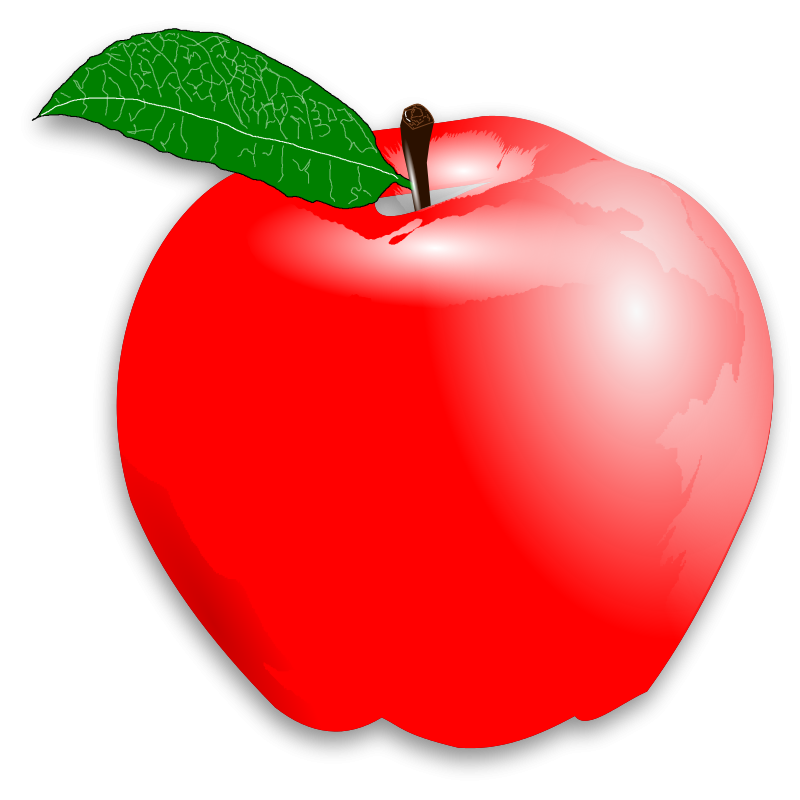 Red apple clipart