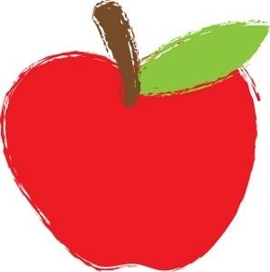Apple clipart school.