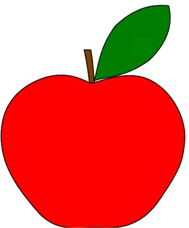 Simple Clipart Apples drawing of apple fruit clipart best