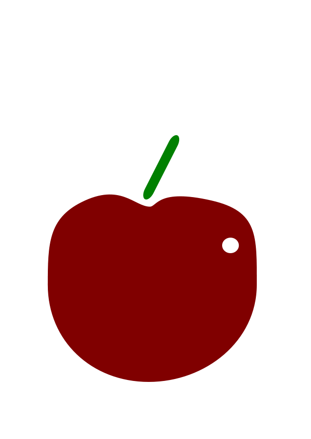 Small apple clipart