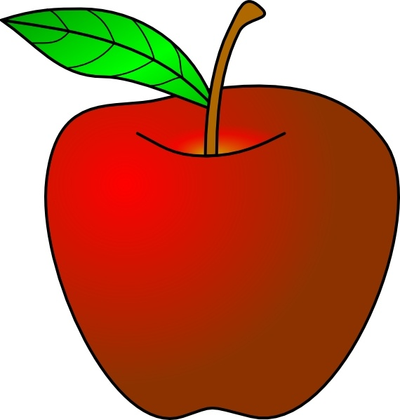 An Apple clip art Free vector in Open office drawing svg