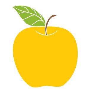 Yellow apple clipart