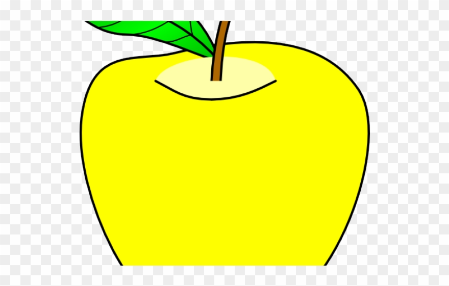 Apple clipart yellow.
